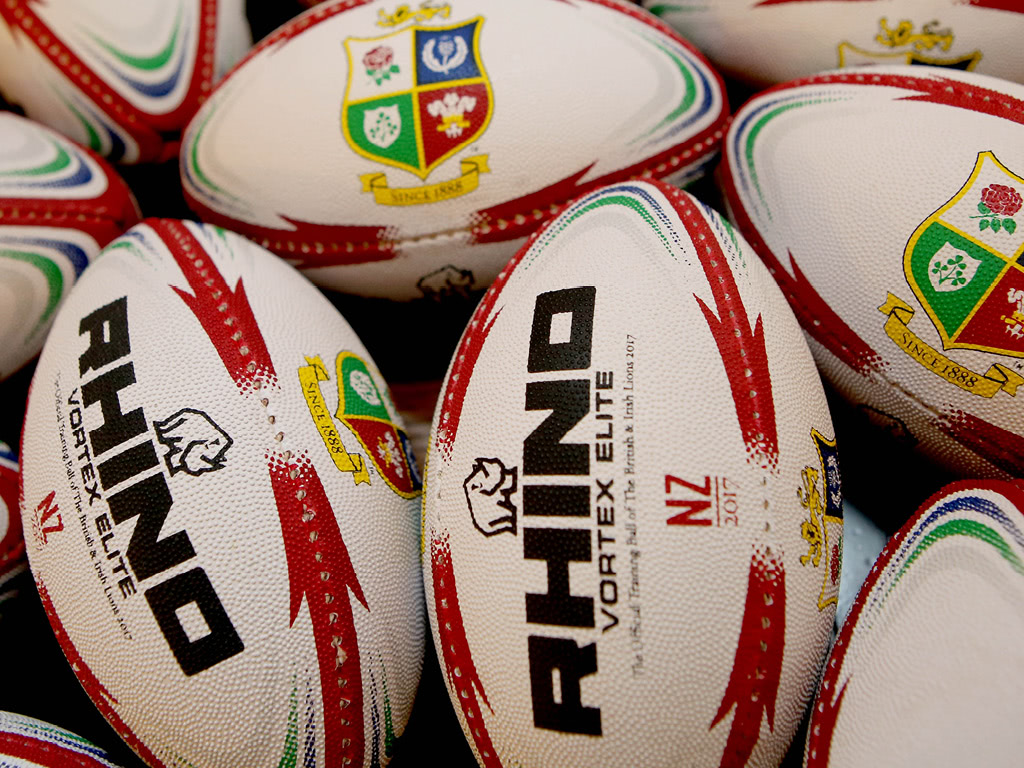 official british and irish lions rhino rugby balls